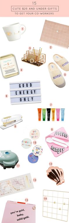 The cutest gifts $25 and under gifts to get your co-workers by top Houston lifestyle blogger Ashley Rose of Sugar & Cloth