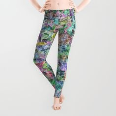 Cotton Candy Leggings - $39.00  #society6 #leggings #fashion #womans #girls #clothing #clothes #trendy #color #green #blue #yellow #pink #teal