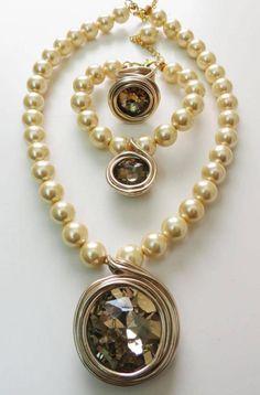 Gold Jewelry Set Rose Gold Jewelry Set Peals Jewelry Set