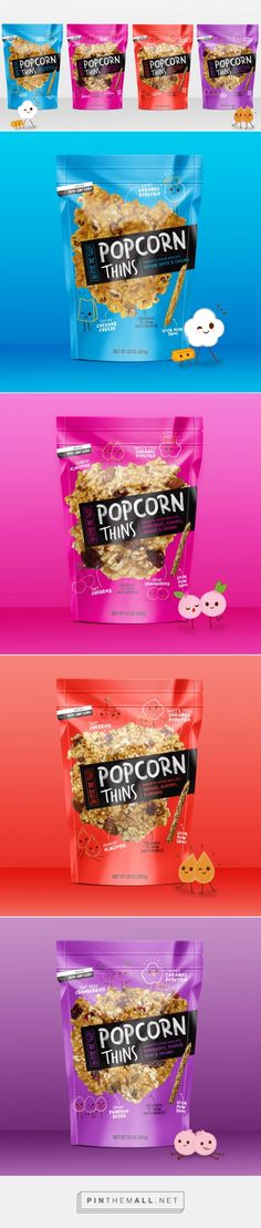 Popcorn Thins — The Dieline - Branding & Packaging... - a grouped images picture - Pin Them All