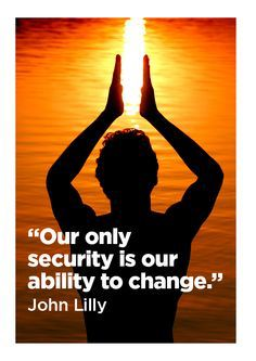 Our only security is our ability to change. - John c. Lilly