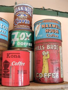 Vintage Coffee Cans 3 by cjereneta