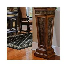 Indoor Plant Stand Wood Small Accent Table Pedestal Display Pillar Column Scroll for sale online Pedestal Stand, Wood Pedestal, Wedding Columns, Wood Furniture Living Room, Entryway Furniture, Accent Furniture, Wooden Furniture, Furniture Ideas, Furniture Design