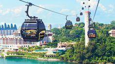 Enjoy cable car ride Sentosa to Singapore's iconic hilltop destination, Mount Faber.  http://goo.gl/K0Utsg #SingaporeCableCar #SingaporeAttractions