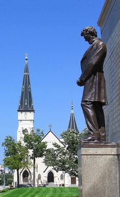 Nebraska - Abraham Lincoln Memorial in the state capital of Lincoln. NE became the 37th state on March 1, 1867.