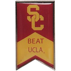 USC Trojans Beat UCLA Rivalry Banner Pin - $6.99