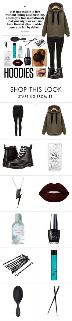 """My Everyday Winter Look"" by dadrumma ❤ liked on Polyvore featuring Dr. Martens, Kate Spade, Edge Only, Lime Crime, Henri Bendel, OPI, Matrix, amika and France Luxe"