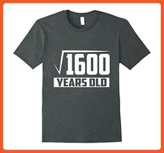 Mens 40 Years Old Square Root - Funny 40th Birthday Gift T-Shirt XL Dark Heather - Funny shirts (*Partner-Link)