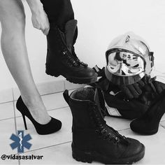 Female Firefighter, Gangster Girl, Red Queen, Swat, Dream Job, Senior Portraits, Love Art, Women Firefighters, Combat Boots