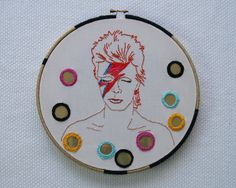 David Bowie Embroidery Pattern by Speckless on Etsy, $3.00