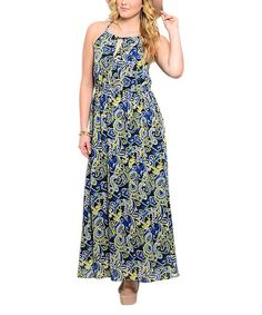 Another great find on #zulily! Black & Royal Paisley Maxi Dress - Plus #zulilyfinds