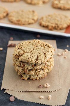 cinnamon maple toffee monster cookies