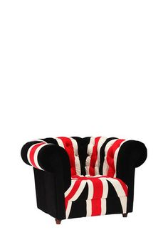 "Zuo Modern  Union Jack Armchair - Red/White/Black  $639.00  $911.00  30% off    Stay patriotic with Zuo Modern's Union Jack series.   - Plush microfiber & tufted  - Color: red/white/black  - Approx. 34"" W x 43"" H x 30.5"" D"