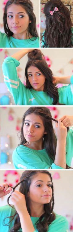 Fuss Free Halo Braid   18 Easy Running Late Hairstyles for School that will get you out of a fix!