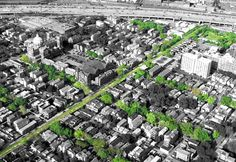 Chicago, IL Elevated railroad line to be transformed into a linear park and multi-purpose bike trail miles) Landscape Architecture Design, Urban Architecture, Landscape Plans, Urban Concept, Linear Park, Chicago Neighborhoods, Modern Landscaping, Urban Planning, Urban Design