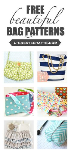 FREE beautiful bag patterns. Sewing patterns for purses!