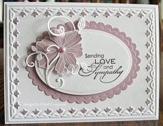 Our Little Inspirations: Another Sympathy Card