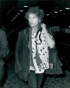 CA8 1986 Rock And Roll Legend Bob Dylan Britain Film Star Portrait Press Photo