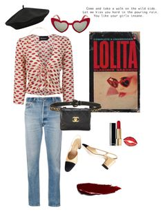 """""""The Last Lolita"""" by vera-e-ekdahl on Polyvore featuring Yves Saint Laurent, M&Co, RE/DONE, Chanel, Givenchy, Jennifer Meyer Jewelry and Børn"""