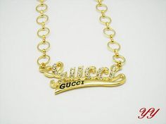 Gucci Necklace-008 Valentine Day Gifts, Holiday Gifts, Cheap Gucci, Gold Necklace, Chanel, Stuff To Buy, Jewelry, Xmas Gifts, Gold Pendant Necklace