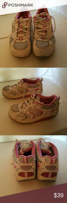 Skechers Shape Up Pink White Size 9 Pink White Skechers Shoes Athletic Shoes