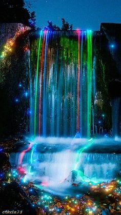 Cascada de colores arco iris | Rainbow waterfall