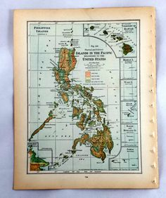 Check out this item in my Etsy shop https://www.etsy.com/listing/218812348/pacific-islands-vintage-map-antique-map