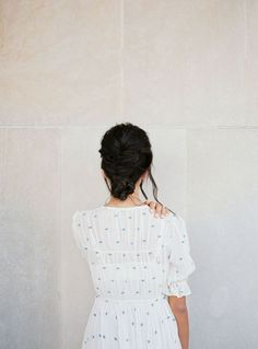 white minimalist dress