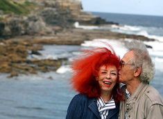 Christo & Jeanne Claude. I like you mostly because you rock that hair sister.