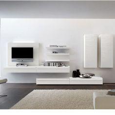 Tv wall storage home tv storage, wall mounted tv, tv furnitu High Gloss Tv Unit, Modern Tv Units, Living Room Tv, Wall Mounted Tv, Wall Storage, Record Storage, Home Furniture, Interior Design, Brown Wood