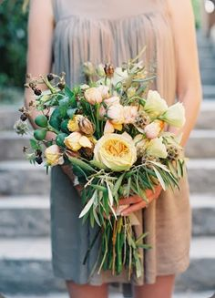 Rustic bouquet by Colonial House of Flowers Blush Flowers, Cut Flowers, Green Wedding, Floral Wedding, Cotton Blossom, Flower Bouquet Wedding, Flower Bouquets, Rustic Bouquet, David Austin Roses
