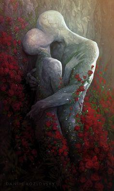 Kiss, Daniil Kozlovsky on ArtStation at https://www.artstation.com/artwork/z5G46