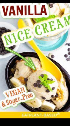 Healthy Vegan Desserts, Vegan Dessert Recipes, Meat Recipes, Whole Food Recipes, Vegetarian Recipes, Apple Oatmeal Muffins, Banana Nice Cream, Homemade Pie, Frozen Desserts