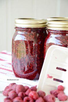 Jam Recipe without Pectin homemade-jam Raspberry Jam No Pectin, Raspberry Freezer Jam, Raspberry Preserves, Raspberry Syrup, Strawberry Syrup Recipes, Raspberry Recipes, Jam Recipes, Canning Recipes, Jam Recipe Without Pectin