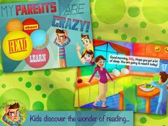 My Parents are Crazy is a nice storybook app that kids can relate to. Okay, maybe your parents aren't going sky-diving or having food fight...