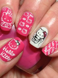 Hello Kitty - this needs to be on my nails like right MEOW!