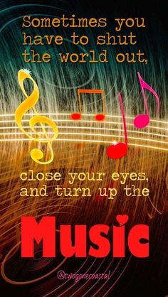 Most current Pics Turn up the Music! Strategies Dance and action therapy is currently an integral part of several day-care services in German-spea Music Is My Escape, I Love Music, Music Is Life, Music Lyrics, Music Quotes, Music Songs, Inspirational Music, Music Images, Music Heals