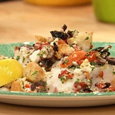 Greek Baked Fish Recipe - EXCELLENT.  I made it without feta.