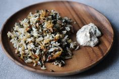 Mujaddara with Spiced Yogurt: French Lentils, Jasmine Rice and Onions served with spiced greek yogurt