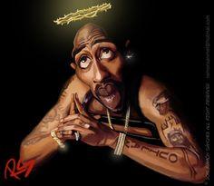 #2pac #tupac shakur #caricature # caricatura #art