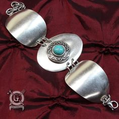 Turquoise Spoon Bracelet Handmade by Doctorgus from by doctorgus
