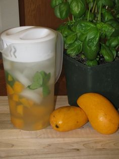 Day Spa Mango and Basil Water- 0 calories.  Great if you need to drink more water. Basil is a natural anti-inflammatory & mango boosts metabolism!