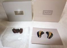 VINTAGE AVON ABOUT TOWN CONVERTIBLE CLIP[ON EARRINGS/NIB