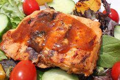 What's Cookin' Italian Style Cuisine: Mango Salsa Barbecued Bourbon Salmon Recipe