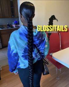 Hair Ponytail Styles, Weave Ponytail Hairstyles, Black Girl Braided Hairstyles, Dope Hairstyles, Sleek Ponytail, School Hairstyles, Updo Hairstyle, Everyday Hairstyles, Wedding Hairstyles