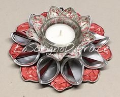 Nespresso, Cup Crafts, Capsule, Candle Holders, Candles, Style, Christmas Crafts, Gift, Ring