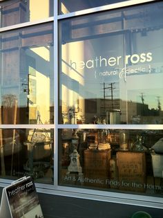 love the tall windows and old metal beams at  heather ross { natural eclectic }