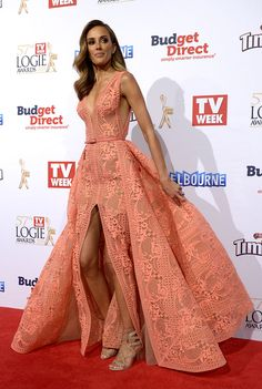 2015 Logies in pictures : Channel 9 weather presenter Rebecca Judd.
