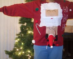 Lascivious Santa Sweater   19 Stupefyingly Ugly Christmas Sweaters You Can Buy