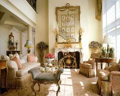 Decoration, French Regency Design Idea: Enchanting and Comfy Home with French Interior Design French Living Rooms, French Country Living Room, My Living Room, Country French, Modern Living, Country Style, Modern Room Decor, Living Room Decor Country, Bedroom Decor